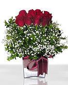 Hakkari çiçek satışı  11 adet gül mika yada cam - anneler günü seçimi -
