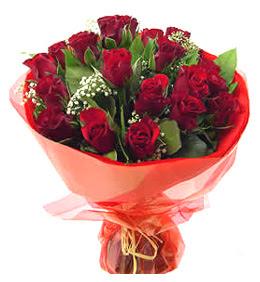 Hakkari 14 şubat sevgililer günü çiçek  11 adet kimizi gülün ihtisami buket modeli