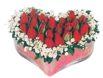 Hakkari çiçek gönderme  mika kalpte kirmizi güller 9