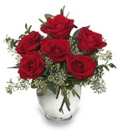 Vazo içerisinde 5 adet kırmızı gül  Hakkari hediye çiçek yolla