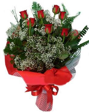 7 kırmızı gül buketi  Hakkari çiçek online çiçek siparişi