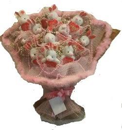 12 adet tavşan buketi  Hakkari çiçek servisi , çiçekçi adresleri