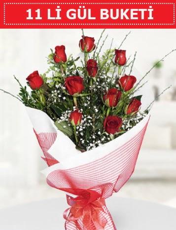 11 adet kırmızı gül buketi Aşk budur  Hakkari İnternetten çiçek siparişi