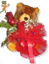 oyuncak ayi ve gül tanzim  Hakkari internetten çiçek satışı