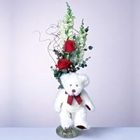 2 adet gül ve panda özel  Hakkari hediye çiçek yolla