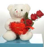 3 adetgül ve oyuncak   Hakkari yurtiçi ve yurtdışı çiçek siparişi