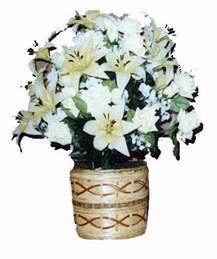 yapay karisik çiçek sepeti   Hakkari çiçek servisi , çiçekçi adresleri