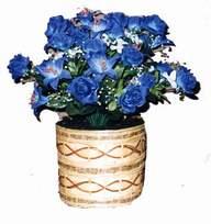 yapay mavi çiçek sepeti  Hakkari cicek , cicekci