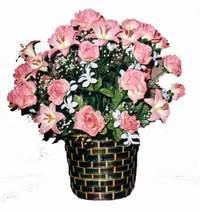 yapay karisik çiçek sepeti  Hakkari hediye sevgilime hediye çiçek
