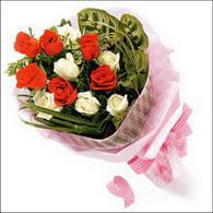 5 kirmizi 5 beyaz güllerden   Hakkari çiçek siparişi vermek