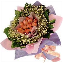 11  adet  gül ve   elyaflar   Hakkari hediye çiçek yolla