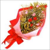 12 adet renkli  gül buketi   Hakkari hediye çiçek yolla