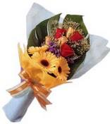 güller ve gerbera çiçekleri   Hakkari İnternetten çiçek siparişi