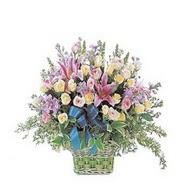 sepette kazablanka ve güller   Hakkari çiçek yolla