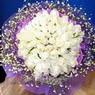 71 adet beyaz gül buketi   Hakkari çiçek satışı