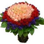 71 adet renkli gül buketi   Hakkari çiçek , çiçekçi , çiçekçilik