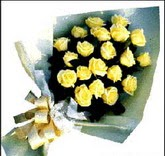 sari güllerden sade buket  Hakkari çiçek satışı