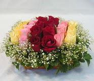 15 adet reprenkli gül sepeti   Hakkari çiçek gönderme sitemiz güvenlidir