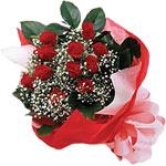 Hakkari çiçek siparişi sitesi  KIRMIZI AMBALAJ BUKETINDE 12 ADET GÜL