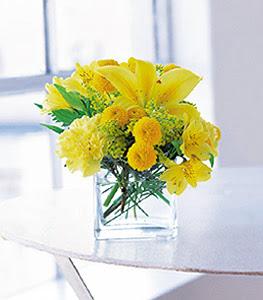 Hakkari çiçek , çiçekçi , çiçekçilik  sarinin sihri cam içinde görsel sade çiçekler