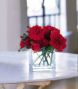 Hakkari çiçek , çiçekçi , çiçekçilik  kirmizinin sihri cam içinde görsel sade çiçekler