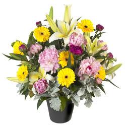 karisik mevsim çiçeklerinden vazo tanzimi  Hakkari cicekciler , cicek siparisi