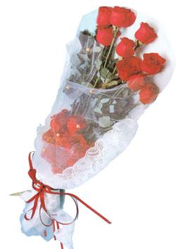 11 adet kirmizi güller buket tanzimi   Hakkari çiçekçi mağazası
