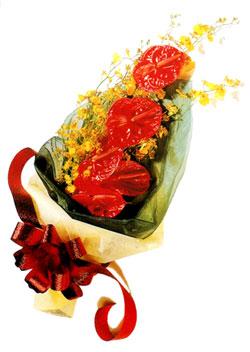 özel 5 adet antorium buketi   Hakkari İnternetten çiçek siparişi
