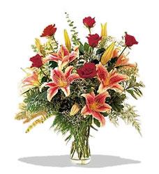 Hakkari çiçek online çiçek siparişi  Pembe Lilyum ve Gül
