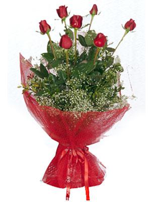 Hakkari çiçek online çiçek siparişi  7 adet gülden buket görsel sik sadelik