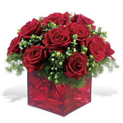 Hakkari çiçek gönderme sitemiz güvenlidir  9 adet kirmizi gül cam yada mika vazoda