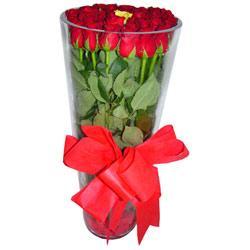Hakkari hediye sevgilime hediye çiçek  12 adet kirmizi gül cam yada mika vazo tanzim