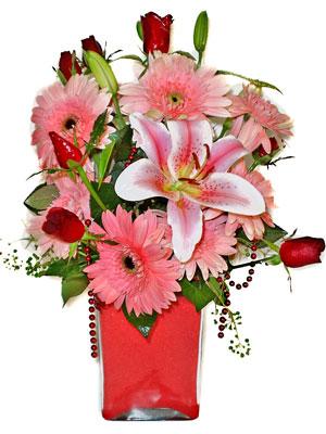 Hakkari online çiçek gönderme sipariş  karisik cam yada mika vazoda mevsim çiçekleri mevsim demeti