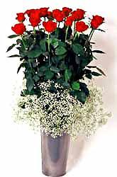 Hakkari online çiçek gönderme sipariş  9 adet kirmizi gül cam yada mika vazoda
