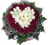 Hakkari çiçek servisi , çiçekçi adresleri  27 adet kirmizi ve beyaz gül sepet içinde