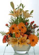 Hakkari çiçek online çiçek siparişi  cam yada mika vazo içinde karisik mevsim çiçekleri