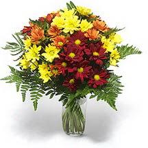 Hakkari çiçekçi mağazası  Karisik çiçeklerden mevsim vazosu