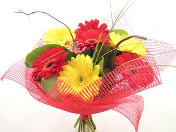 9 adet gerbera çiçeklerinden buket  Hakkari çiçekçi telefonları