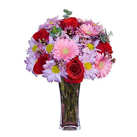 Görsel hediye karisik cam mevsim demeti  Hakkari hediye çiçek yolla