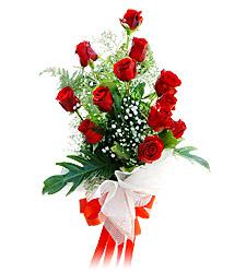 11 adet kirmizi güllerden görsel sölen buket  Hakkari internetten çiçek siparişi