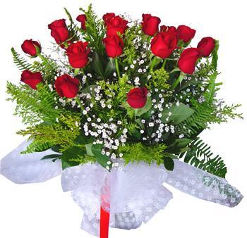11 adet gösterisli kirmizi gül buketi  Hakkari çiçek siparişi sitesi