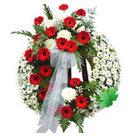 Cenaze çelengi cenaze çiçek modeli  Hakkari cicekciler , cicek siparisi