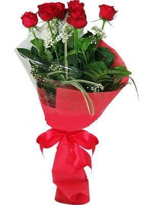 7 adet kirmizi gül buketi  Hakkari online çiçekçi , çiçek siparişi