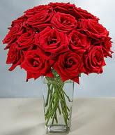 Hakkari hediye çiçek yolla  cam vazoda 11 kirmizi gül  Hakkari anneler günü çiçek yolla