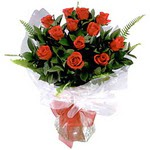 Hakkari çiçek satışı  9 adet güzel bir gül buketi