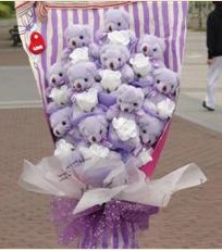 11 adet pelus ayicik buketi  Hakkari İnternetten çiçek siparişi