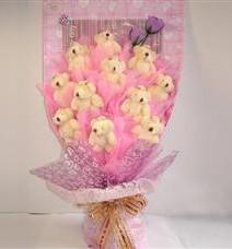 11 adet pelus ayicik buketi  Hakkari çiçek gönderme sitemiz güvenlidir