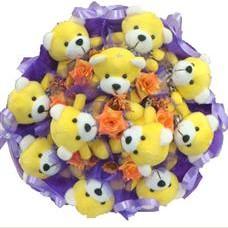 11 adet pelus ayicik buketi  Hakkari çiçek servisi , çiçekçi adresleri