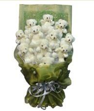 11 adet pelus ayicik buketi  Hakkari çiçek siparişi vermek