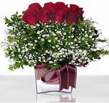 Hakkari çiçek siparişi sitesi  mika yada cam vazo içerisinde 7 adet gül